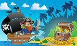 Pirate theme with treasure chest 2