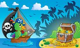 Pirate theme with treasure chest 4