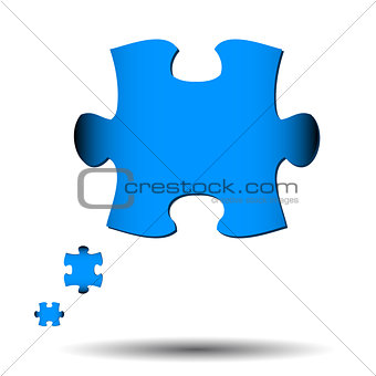 Abstract puzzle icon