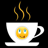 Coffee icon with smile