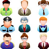 School people icon set