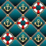 Seamless lifebuoy pattern
