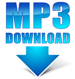 Vector mp3 download icon