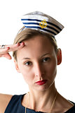 Portrait woman in sailor costume