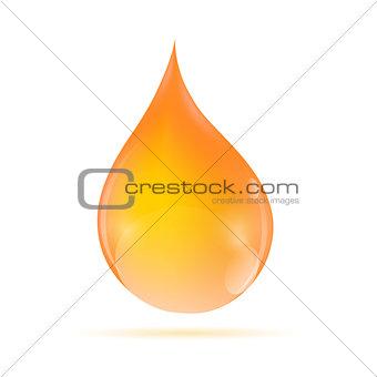 Oil Orange Drop  Vector Illustratio