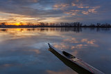 sunrise kayak paddling