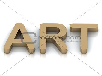 Art-3d inscription large golden letter