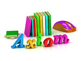 Axiom - 3d inscription bright volume letter and textbooks