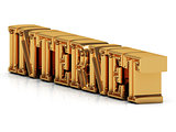 INTERNET - 3d inscription large golden letter