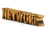 NETWORK - 3d inscription large golden letter