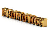PROMOTION - 3d inscription large golden letter