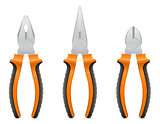 tool pliers vector illustration