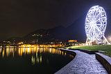 Ferris wheel in Laveno-Mombello, Maggiore Lake - Lombardy