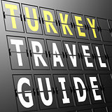 Airport display Turkey travel guide