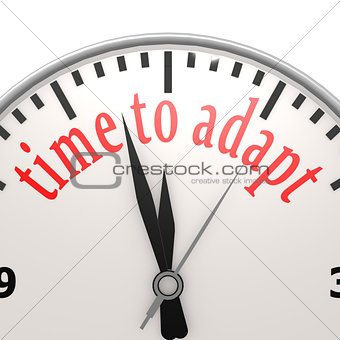Time to adapt clock