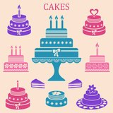 Birthday and wedding cakes