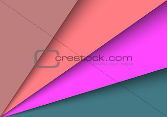 Abstract colorful papers with blank space