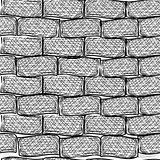 Old bricks. Seamless. Doodle style art illustration