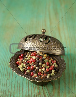 assorted red, black and white spice pepper