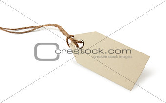 Blank price or address tag