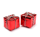 Small red present boxes