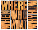 questions abstract in wood type