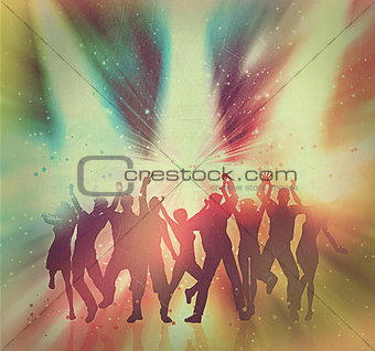 Vintage party people background