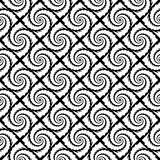 Design seamless monochrome spiral geometric pattern