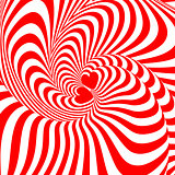 Design hearts swirl movement illusion background