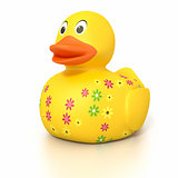 rubber duck with flowers