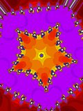 Decorative fractal star