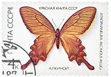 Stamp printed in the USSR shows butterfly  Alcinous, series