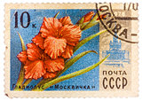 Stamp printed in USSR (CCCP, soviet union) shows image of gladio