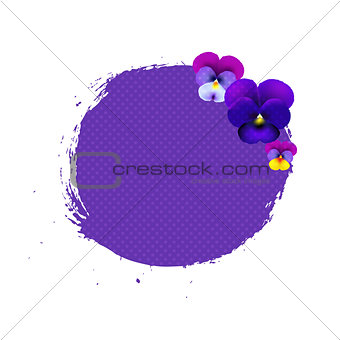 Blob With Pansies