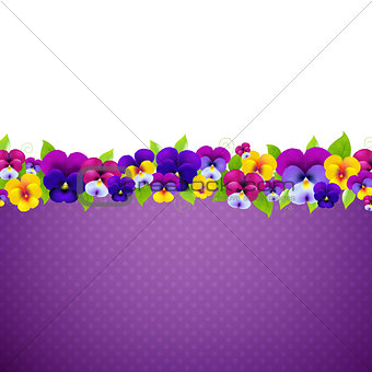 Poster With Colorful Pansies