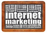 internet marketing word cloud