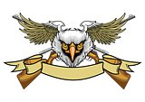 eagle and rifles