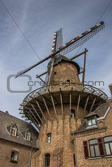 Old windmill in the center of Kalkar
