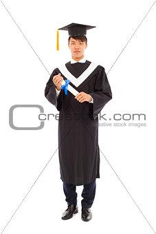 Portrait of happy graduating student