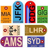 Retro airplane tags