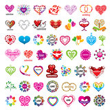 biggest collection of vector logos hearts and valentines