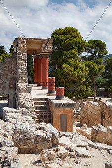 Knossos palace at Crete, Greece.