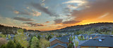 Sunset Over Happy Valley Suburb Homes