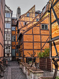Medieval houses in a backyard in Copenhagen