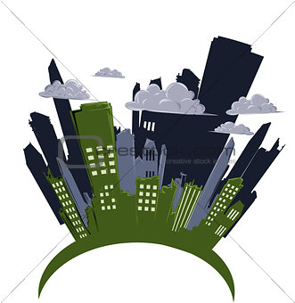 cityscape cartoon vector