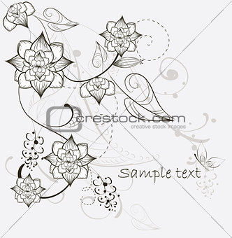 beautiful decorative flower background