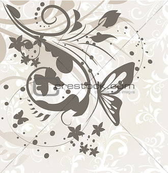 Abstract floral for design