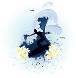 blue grunge surf
