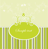 Template frame design for greeting card . Vector illustration