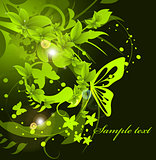 green leaf background design illustration